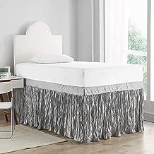 DormCo Crinkle Bed Skirt Twin XL (3 Panel Set) - Alloy