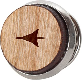 Airforce Stylish Cherry Wood Tie Tack- 12Mm Simple Tie Clip with Laser Engraved Design - Engraved Tie Tack Gift