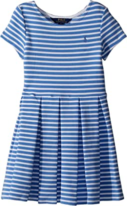 Polo Ralph Lauren Kids - Striped Ponte Pleated Dress (Little Kids)
