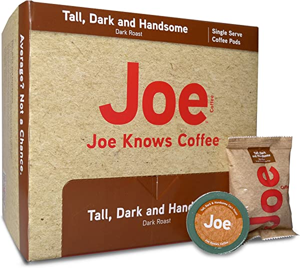 Joe Knows Coffee Tall Dark And Handsome Single Serve Coffee Pods 40 Count Rich Bold Roast Compatible With Keurig 2 0 Brewers