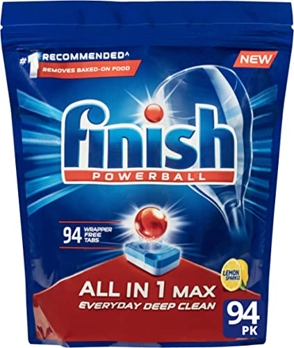 Finish All in 1 Max Dishwasher Tablets, 94 Pack, Lemon