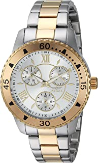 Invicta Women's 'Angel' Quartz Stainless Steel Casual Watch, Color:Two Tone (Model: 21770)