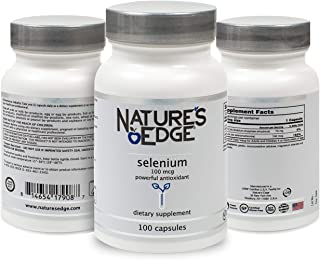 Nature's Edge® Selenium Supplement (100 mcg) Anti-Aging Antioxidants and Thyroid Support | Pure, All-Natural Ingredients |...