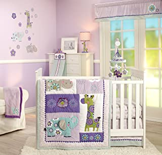 Carter's Zoo Jungle/Safari 4 Piece Nursery Crib Bedding Set, Zoo Collection