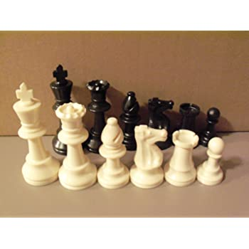 Pieces Only and No Board 2 Sets Chess Pieces Chess Pawns Tournament Chess Set for Chess Board Game White and Black