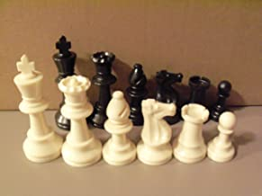 """Staunton Tournament Chess Pieces, Triple Weighted with 3.75"""" King and 2 extra Queens"""
