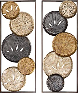 "Newhill Designs Sand Dollars 35 1/2"" High Metal Wall Art Set of 2"