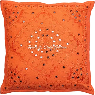 Amazon.com: Indio Espejo Bordado Algodón Throw 16 X 16 ...