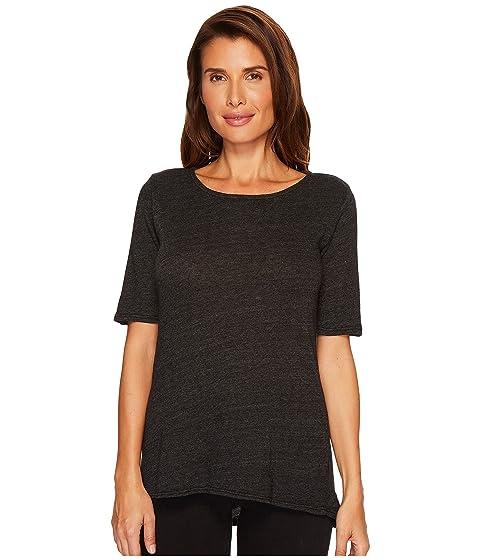 ALLEN ALLEN Sweater 1/2 Sleeve High-Low Tee, Black