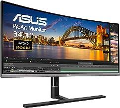 "ASUS ProArt PA34VC 34"" Curved Monitor Uwqhd 100Hz HDR-10 IPS Eye Care TB3 DP 1.2 HDMI 2.0B, Black"