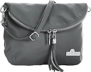 LIATALIA Real Italian Soft Leather Messenger Cross Body Shoulder Bag Mini/Small Size - AMY