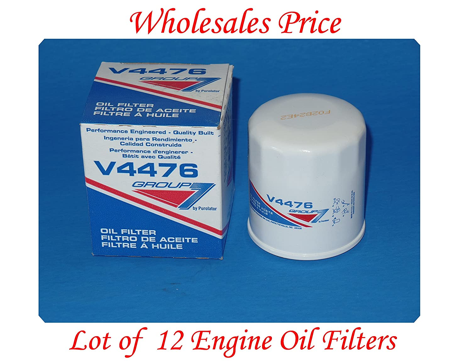 ( Lot of 12 )Engine Oil Filter Group7 V4476 MADE IN USA Fits Chevrolet Daihatsu Geo Lexus Lotus Nissan Pontiac Scion Suzuki Toyota