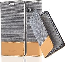 Cadorabo Funda Libro para Samsung Galaxy Grand Prime en Gris Claro MARRÓN – Cubierta Proteccíon con Cierre Magnético, Tarjetero y Función de Suporte – Etui Case Cover Carcasa