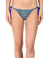 Luli Fama - Blue Kiss Wavey Tie Side Ruched Full Bottoms