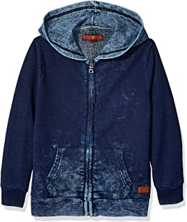 7 For All Mankind Boys' French Terry Zip Up Hoodie