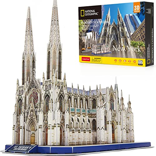 new arrival CubicFun 3D wholesale Puzzles for Adults National Geographic St. Patrick's Cathedral Model Kits, new arrival New York Architecture Puzzles for Adults Desk Building Puzzles for Kids Ages 8-10 with Booklet, 117 Pieces outlet sale