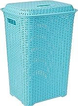 Cello Eliza Plastic Laundry Basket, 50 Liters, Light Blue