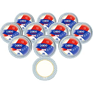 "125 Plates Per Pack, 4 Packs Per Case UX9WS Georgia-Pacific 500 Count Dixie 9/"" Medium-Weight Paper Plates by GP PRO Pathways"