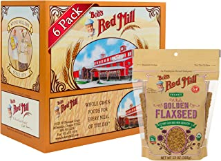 Bob's Red Mill Resealable Organic Whole Golden Flaxseed, 13 Oz (6 Pack)