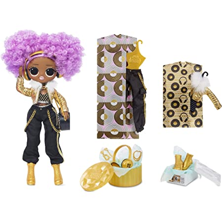 LOL Surprise OMG 24K DJ Bambola alla moda con 20 sorprese - Acconciatura e vestiti - Include scarpe, scatola da scarpe, accessori, cappelliera, borsa, spazzola per capelli e altro - Età: 4+