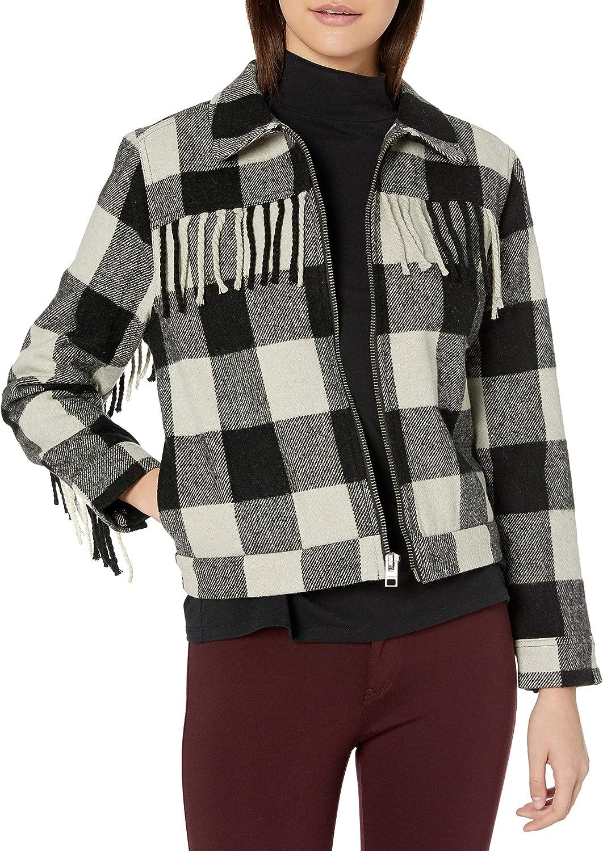 Lucky Brand Women's Wool Fringe Jacket