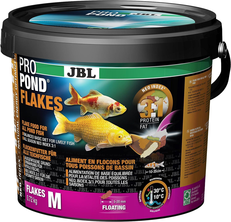 JBL Comida para Todos los Peces de Estanque, Copos de alimentación flotantes, alimento Funcional ProPond Flakes, 0,72 kg
