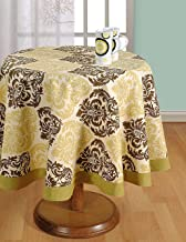ShalinIndia Round Tablecloth - 72 inches in Diameter - Tablecloths for 6 Seat Tables - Duck Cotton - Machine Washable