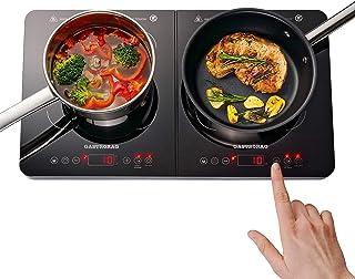 Gemlux Double plaque de cuisson à induction 3400 W – économie d'énergie, vitrocéramique, capteurs tactiles, 10 niveaux de ...
