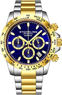 "Stuhrling Original Mens Sport Chronograph Watch - Stainless Steel Brushed Matte Bracelet, 891 Formula""i"" Watches Collection"