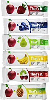 That's it Super Sampler, Pack of 12, (2 Apple+Blueberry, 2 Apple+Strawberry, 2 Apple+Pineapple, 2 Apple+Pear, 2 Apple+Cherry, 2 Apple Banana)