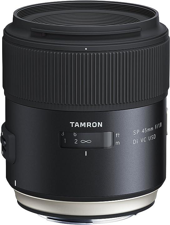 Obiettivo per canon, nero tamron 45mm f/1.8 vc F013E