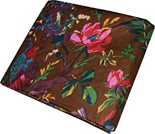 Vedant Designs Hand Block Print Fabric Dressmaking 100% Cotton Material Indian Sewing (Brown, 5 Yard)