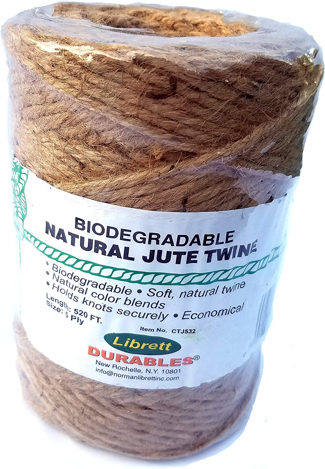 Quality inspection shop Natural Jute Twine. 5 520ft X Ply