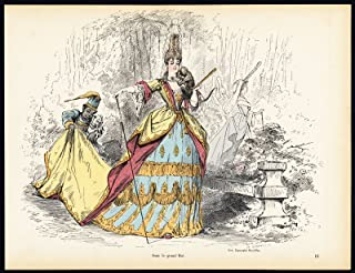 Antique Print-LOUIS XIV-SUN KING-DRESS-COSTUME-Gillot-Alfred Grevin-1865