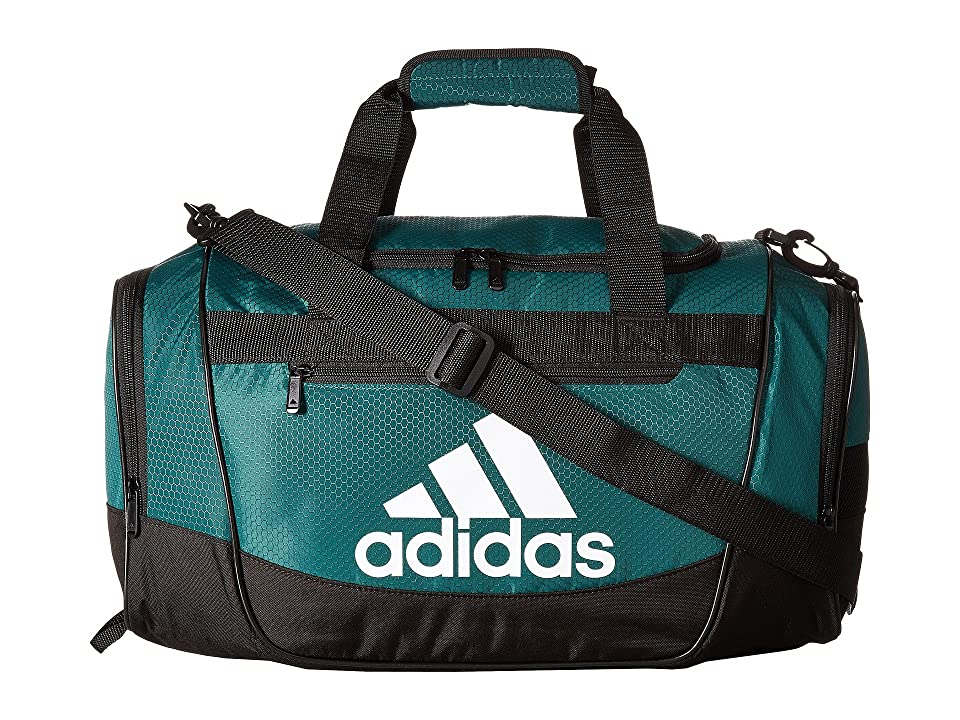 adidas Defender III Small Duffel (Collegiate Green/Black/White) Duffel Bags