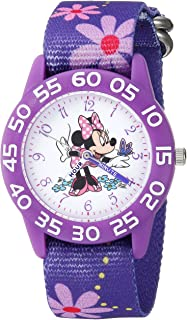 Girls Minnie Mouse Analog-Quartz Watch with Nylon Strap,...