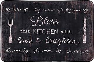 """J&V TEXTILES Oversized Chef Series 24""""x36"""" Antifatigue Kitchen Mats (Bless This Kitchen)"""