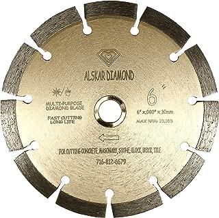 ALSKAR DIAMOND ADLSS 6 inch Dry or Wet Cutting General Purpose Power Saw Segmented Diamond Blades for Concrete Stone Brick Masonry (6