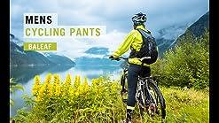 BALEAF Mens Fleece Athletic Sweatpants Running Pants Cycling Windproof Thermal Mountain Bike Outdoor Zipper Pockets
