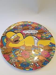 Collector's Plate: Homer Simpson in his Underwear Relaxing Lots Junk Food! Doughnuts, duff Beer, Hamburger, etc