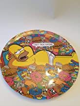 Collector's Plate: Homer Simpson in his Underwear Relaxing Lots Junk Food! Doughnuts, duff Beer, Hamburger, etc