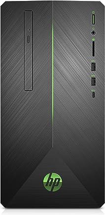 HP Pavilion Gaming Desktop Computer, AMD Ryzen 5 2400G, NVIDIA GeForce GTX 1060, 16GB RAM, 1TB hard drive, 128GB SSD, Windows 10 (690-0048, Black) (3LB74AA#ABA)