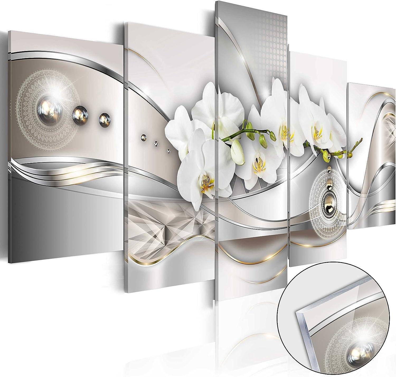 Murando - Acrylglasbild Abstrakt 200x100 cm - 5 Teilig - Bilder Wandbild - modern - Decoration - Blaumen b-A-0073-k-n