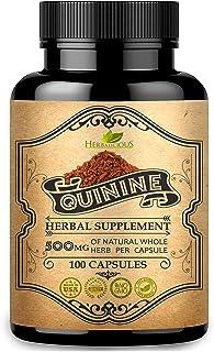 HERBALICIOUS Quinine Capsules - Cinchona Officinalis Bark Herbal Supplement for Leg Cramping Relief, Cramp Defense and Ove...