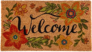 Evergreen Flag 2RM396 Floral Welcome Coir Mat, Multi-Colored