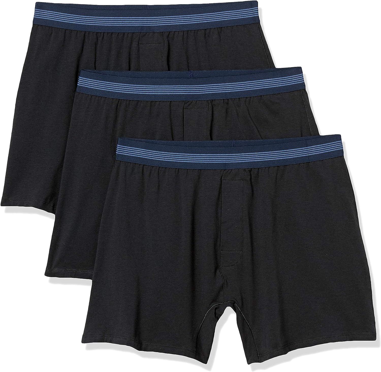 Goodthreads Men's 3-Pack Cotton Modal Stretch Knit Boxer Underwear