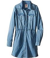 Levi's® Kids - Long Sleeve Woven Dress w/ Roll Tab (Big Kids)