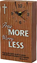 Precious Moments Pray It Forward Collection-Pray More Worry Less Clock, 8153007