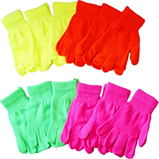 OPT. 12 Pairs Assorted Neon Color Knit Magic Gloves Wholesale Lot. USA Trademark Registered: 86522969. From New York.