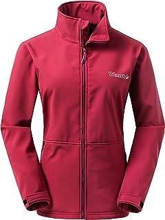 Wantdo Women's Outdoor Front-Zip Windproof Softshell Jacket